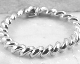 Jewelry San Marco Sterling Silver Bracelet. 10mm Width.