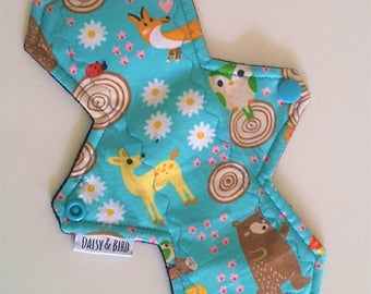 Woodland Creatures Blossom Cloth Pad - LIGHT Absorbency