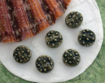 Antique Brass Beads, Brass Ox Beads, Lead Free Pewter Beads, Vintage Reproductions, Made in the USA  PB-031AB