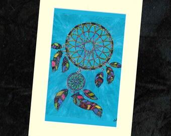 Dreamcatcher Mounted Print