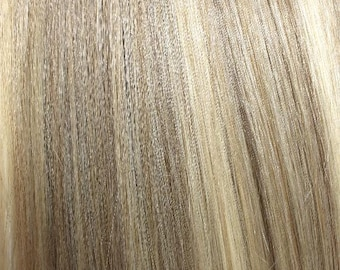 Ash Blonde Mix-100% Human Hair Flip-in(Halo style) extension