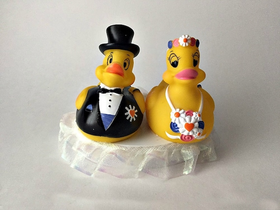 rubber duck wedding cake toppers animal wedding cake topper rubber by uniqueweddincreation 19439
