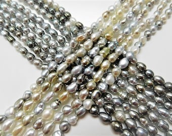 4-6mm Multi Keshi Necklace Strands