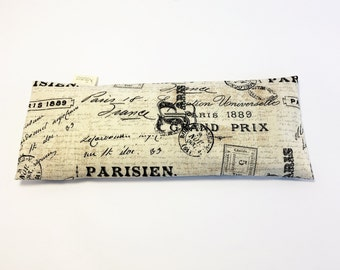 Eye Pillow Removable Cover, Parisien, Cold Freezer Pack, Headache Relief, Bridesmaid Gift