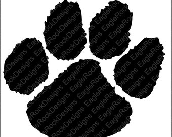 Paw SVG, DXF, EPS, Png, Cut File For Cameo and Cricut, Tigers Svg, Panthers Svg, Bears Svg, Bearcats Svg, Instant Download