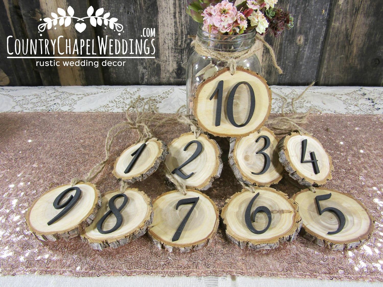 Rustic Wedding Tree Slice Table Numbers~ Spring Wedding ~ DIY ...