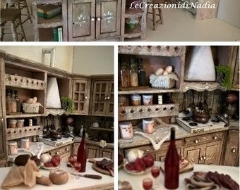 Miniature Dollhouse Miniature Kitchen Shabby Chic KITCHEN style-style Shabby