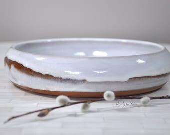 Pottery, Pottery Bowl, Wheel Thrown Pottery, Pottery Succulent Planter, Pottery Plant Bowl, Planter, Fruit Bowl, Shallow Bowl, Serving Bowl