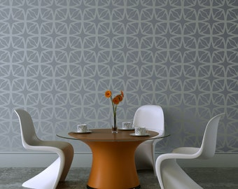 LIGHTNING LATTICE All over Wallpaper Stencil / Reusable Stencil / DIY / Home Decor / Interiors / Feature Wall / Wallpaper alternative