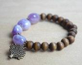 Amethyst Bracelet / Charm Bracelet / Healing Crystal Bracelet / Meditation Bracelet / Yoga Bracelet / Christmas Gift Idea