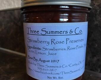 Strawberry Rose Preserves