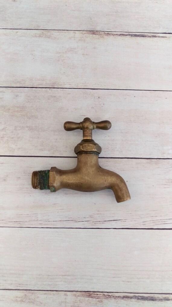 Brass Faucet/ Vintage Brass Spigot/ Garden Faucet/ French Farm ...