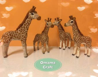 Needle Felt Animal Sculpture - Giraffe