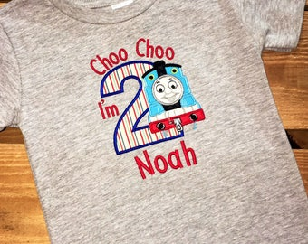 Boys Birthday, Thomas the Train Inspired Birthday Shirt, can make one for the whole family!