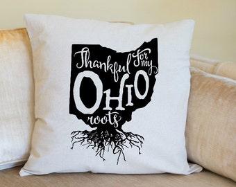 Ohio Pillow Cover, Ohio State Decor, Ohio, USA, Housewarming Gift, Pillow, Home Pillow, State Pillow, Pillow Cover,Wedding Gift, Hometown