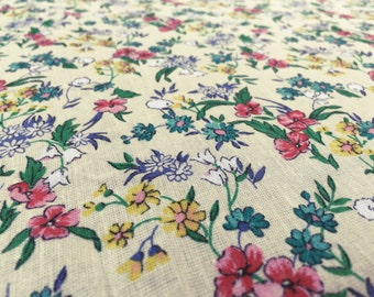 Vintage fabric fabric of flower power 0, 50 x 1, 40 cm x 12