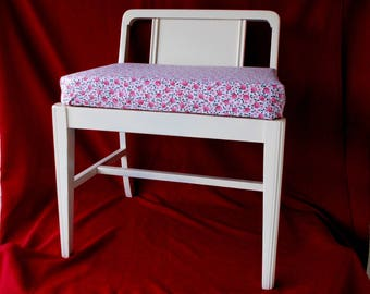 1930s Vintage Bench: Piano, Vanity, Stool, Sewing, Dressing, Refinished