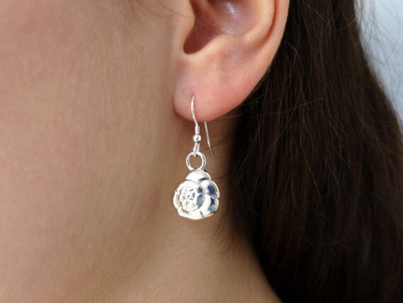 Foraminiferan Earrings 'Ammonia tepida'-Marine Biology-Science Jewelry