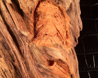 Wood Spirit Pine Knot Carving