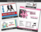 Printable Party Favor Add-Ons to Matching Any PrintVillaInvites Invitation Design
