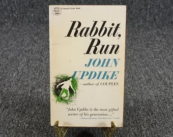 JOHN UPDIKE Rabbit Run 1966 PAPERBACK Novel Fawcett Rabbit, Angstrom