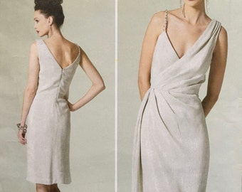 Vogue Patterns V1289 Misses Dress Lined, mock wrap dress Size: C5 (10-12-14-16-18) Pamela Roland
