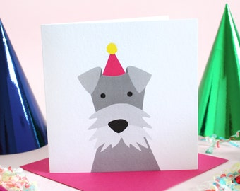 Birthday Schnauzer Card