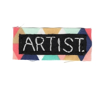 ARTIST || Punk Patches Eat Sleep Create Gifts for Crafters Patch Punk Sew on Patch | College Backpack | Canvas Backpack |