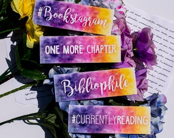 Bibliophile, One More Chapter, #Bookstagram  -or-  #CurrentlyReading Bookmark- Bookish gifts