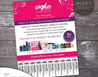 Pink Fancy Plexus Flyer - With Tear Off Tabs [Digital File]