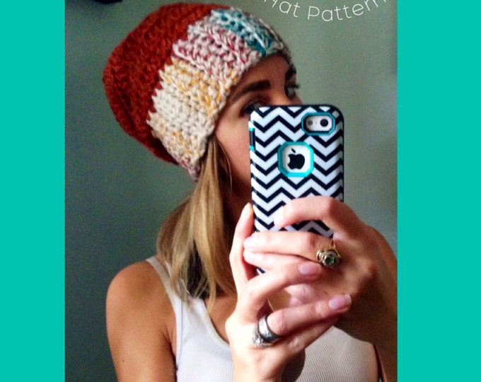 Crochet Hat Pattern, Toddler Beanie pattern, Crochet beanie pattern, women's hat pattern, instant download, crochet slouchy hat pattern, hat