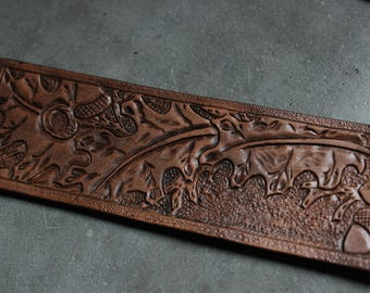Leather Bookmark Hand Carved