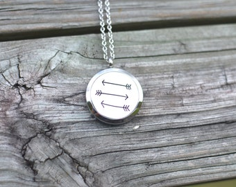 Stainless Steel Arrow Necklace, Diffuser Necklace, Aromatherapy Necklace, Women's Necklace, Girls Necklace, Stainless Steel
