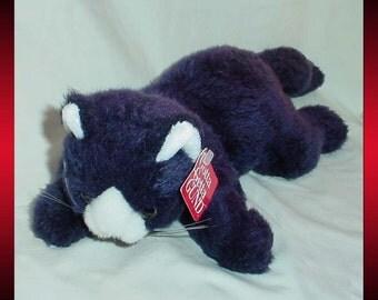 Black and White Cat Gund Plush Stuffed Animal 1990s