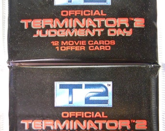 VINTAGE! 1991 Impel T2 Terminator 2: Judment Day Lot of 2 Trading Card Packs