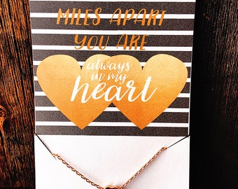 Always In My Heart Dainty Necklace Dainty Heart Necklace