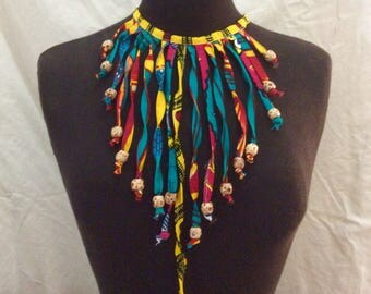Upcycled Ghanaian Ankara Necklace