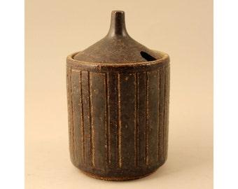 Per Linneman Schmidt, Palshus, Denmark, Chamotte Jam Pot, Denmark,  Mid Century, 1960's,