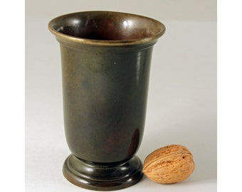 Art Deco Argentor Bronze Vase,  Denmark. Scandinavian Decorative Art