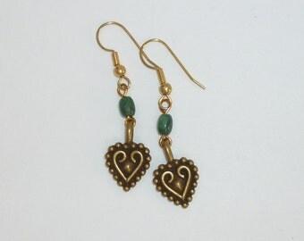 Tribal heart earrings