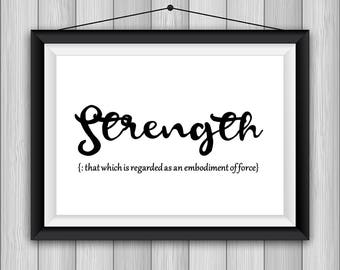 Definition Strength Printable Poster 8x10