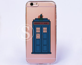Doctor Who phone Case, Clear iPhone 7 Case, iPhone 7 Plus Case, Clear iPhone6 Case, Clear iPhone 6s Case, Tardis iPhone 6s Plus Case, SA-39