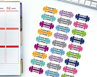 Never Miss A Monday Planner Stickers! Perfect for your Erin Condren Life Planner, calendar, Paper Plum, Filofax!
