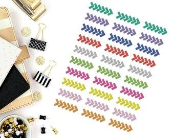 Glitter Arrow Stripe Stickers! Perfect for your Erin Condren Life Planner, Filofax, Paper Plum, calendar and/or scrapbook