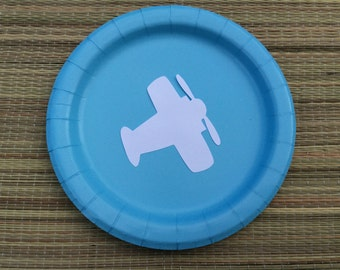 Airplane Birthday party/First Birthday Boy decoration/Airplane Birthday Party/Boy First Birthday plates/Airplane Party Decor/Airplane plates