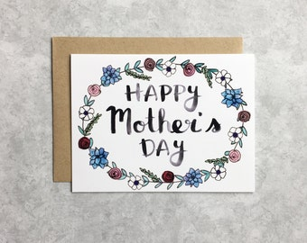 Mother's Day Card - Watercolor Floral