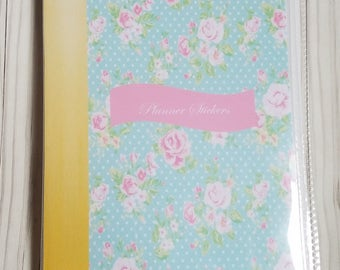 Teal floral planner sticker storage 4.50x6.00 sticker storage/book/album