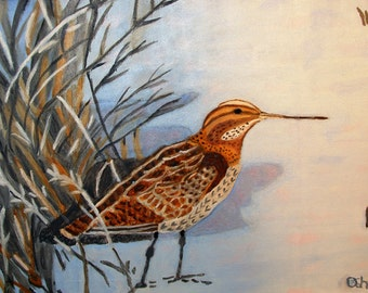 Bird Print from Original Oill on Canvas