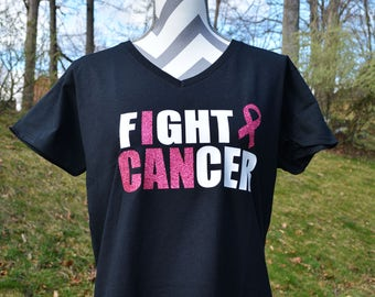 Black Fight Cancer Shirt - Child Shirt - Breast Cancer Awareness - Cancer Support
