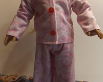 """18"""" Doll Pajamas/AG Doll Pajamas/ American Girl Pajamas/ Pink Doll Pajamas"""